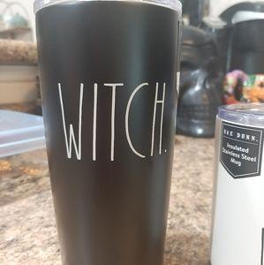 Rae Dunn Halloween Witch travel tumbler mug